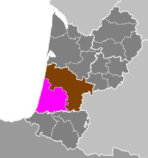 Arrondissement of Dax - Image: Département des Landes Arrondissement de Dax