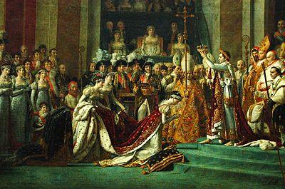 ナポレオン1世の戴冠式(1804年、部分)
