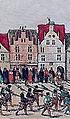 """Düsseldorf, Haus """"Zum Goldenen Hirsch"""" am Marktplatz 1585 (Gramminaeus).jpg"""