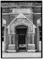 DETAIL OF MAIN ENTRANCE, SOUTH FRONT - Menasha City Hall and Fire Station, 124 Main Street, Menasha, Winnebago County, WI HABS WIS,70-MENA,2-6.tif
