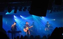 Durante un concerto a Rimini 26.11.2005