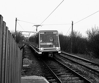 Gorton - Early light rail demonstration at Debdale Park, 1987