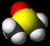 Spacefill-modelo de dimetilsulfoksido