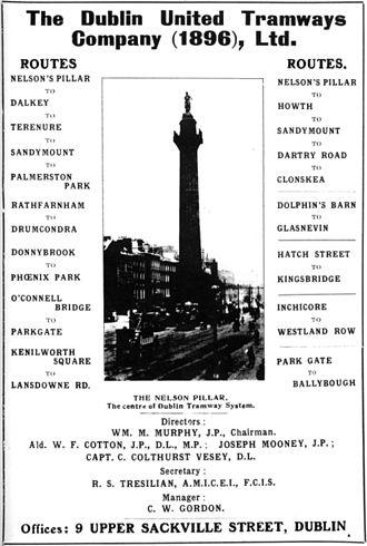 Dublin tramways - A DUTC advertisement, c. 1900