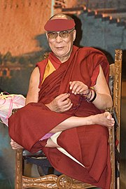 Tenzin Gyatso during his visit to Italy in 2007.