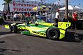 Dallara-Chevrolet DW12 KV-Geico Racing Tony Kanaan LSideRear Morning Practice SPGP 24March2012 (14513058219).jpg