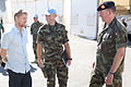 Damien Duff and his brother Sergeant Gerry Duff visit the troops of the Irish 106 Battalion in Tibnine Lebanon (7514505030).jpg