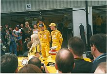 Photo de Damon Hill et Ralf Schumacher au Grand Prix de Grande-Bretagne 1998