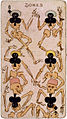 Dancing bones six of clubs playing card, late 19th c.jpg