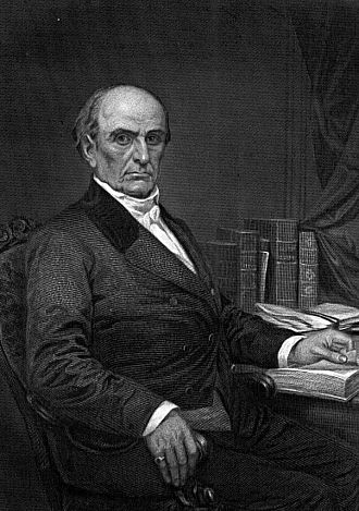 Line engraving - An engraved portrait of Daniel Webster by Duyckinick, 1873