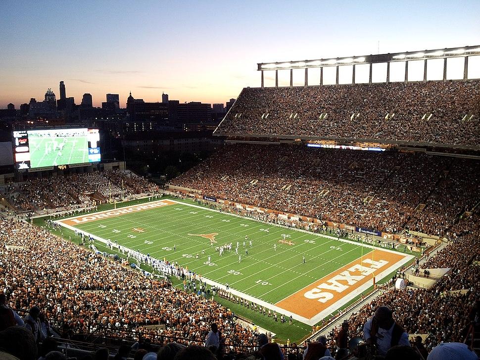 Darrell K Royal-Texas Memorial Stadium at Night