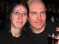 David gerard and akardy at london wikimeet sept 05.jpg