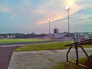 soccer stadium in West Carrollton, Ohio, USA
