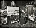 De schilderes Sientje Mesdag-van Houten in haar atelier, gefotografeerd door Sigmund Löw in 1903.jpg