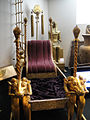 """Debbie Reynolds Auction - Cleopatras Throne used during the arrival of Marc Anthony from """"Cleopatra"""" (1963) (5852146892) (2).jpg"""