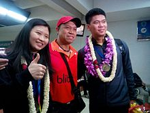 Debby Susanto - Richard Mainaky - Praveen Jordan welcoming ceremony.jpg
