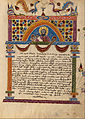 Decorated Text Page with half figure of Carpianus - Google Art Project.jpg