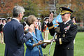 Defense.gov News Photo 110411-D-XH843-005 - Secretary of the Army John M. McHugh left delivers the oath of office to Gen. Martin E. Dempsey right while his wife Deanie 2nd from left looks on.jpg