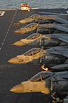 Defense.gov News Photo 120202-N-SB587-365 - AV-8B Harrier aircraft sit on the flight deck of the amphibious assault ship USS Kearsarge LHD 3 during Bold Alligator 2012 in the Atlantic Ocean.jpg