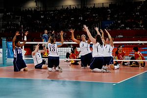 Volleyball at the Summer Paralympics - United States versus China women's match at the 2012 Summer Paralympics in London