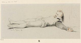 Martwy książę - szkic do obrazu Zabójstwo księcia de Guise