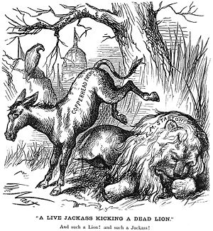 History of the United States Democratic Party - Thomas Nast's January 1870 depiction of the Democratic donkey
