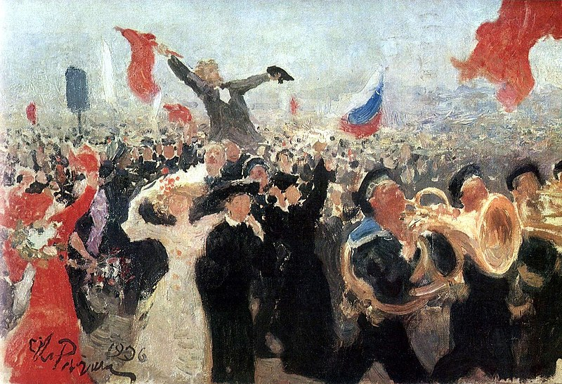 Demonstration am 17. Oktober 1905 (Skizze von Ilja Jefimowitsch Repin, 1906)