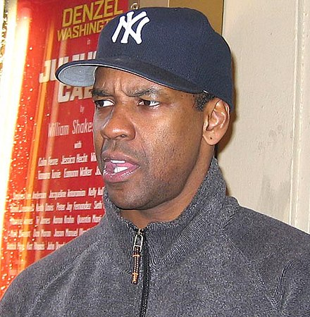 Washington after a performance of Julius Caesar in May 2005. - Denzel Washington