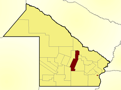Location of Veinticinco de Mayo Department in Chaco Province