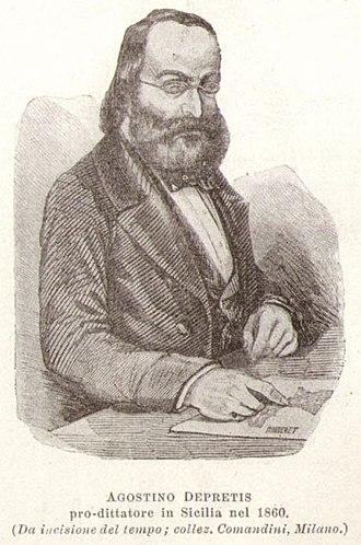 Agostino Depretis - Agostino Depretis in 1860.