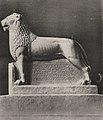 Der Bergische Löwe, das Düsseldorfer Kriegswahrzeichen, nach seiner Vollendung. Das Wahrzeichen soll Anfang Januar auf dem südlichen Rundplatz der Königsallee seiner Bestimmung übergeben werden. Foto Julius Söhn.jpg