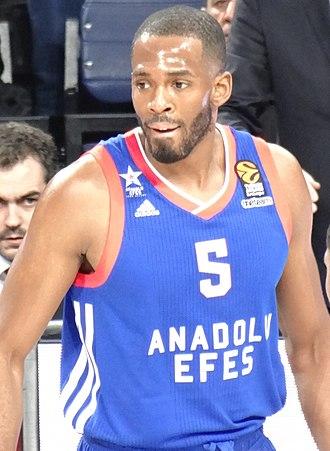 Derrick Brown (basketball, born 1987) - Image: Derrick Brown 5 Anadolu Efes S.K. 20171215 (cropped)