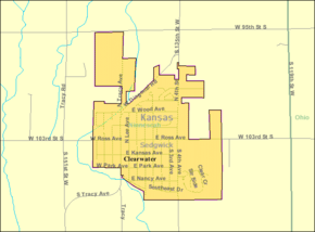 Detailed map of Clearwater, Kansas.png