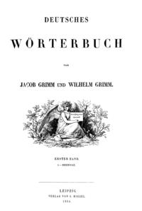 Deutsches Wörterbuch Grimm - Titel Band 1.png
