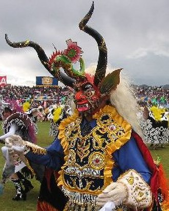 Inca mythology - Supay, god of death, as interpreted in a Bolivian carnival festival