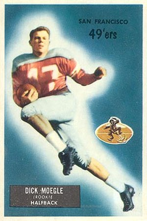 Dicky Moegle - Moegle on a 1955 Bowman football card