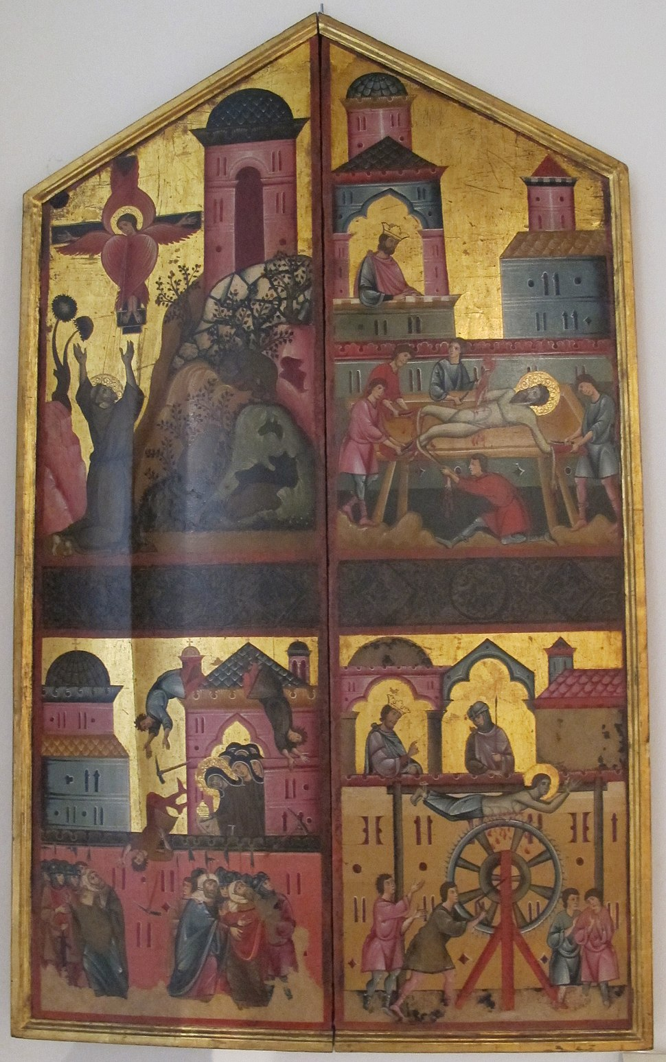 Dietisalvi di speme, dittico di s. chiara, 1280 ca