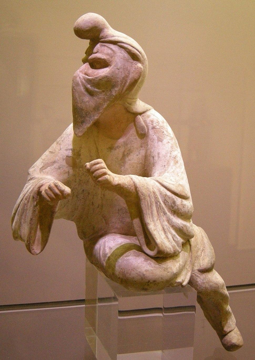 Dinastia tang, shanxi, straniero dal volto velato, 600-750 ca