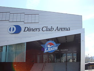 St. Galler Kantonalbank Arena - Diners Club Arena with Lakers team logo