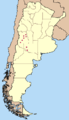 Distribution of Tympanoctomys barrerae in Argentina.png