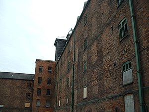 Ditherington Flax Mill - Section of the rear of the main part of the flax mill