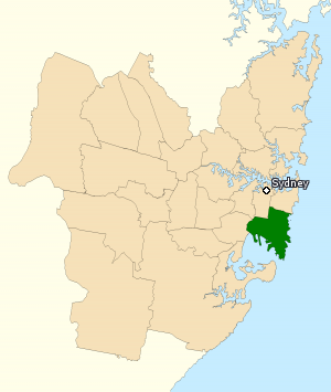 Division of Kingsford Smith - Division of Kingsford Smith in Sydney, as of the 2016 federal election.