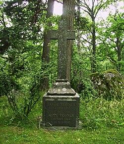Billede på Alice Tegnérs begravelsessted i Djursholm