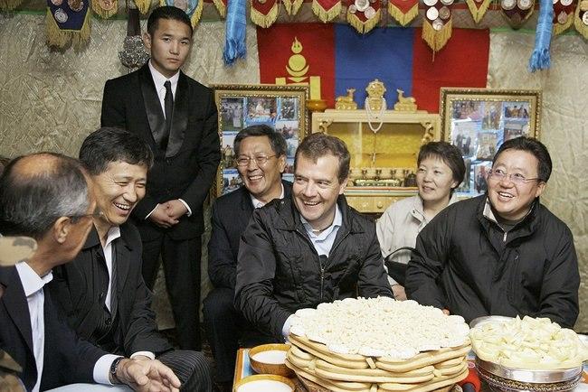 Dmitry Medvedev in Mongolia August 2009-26