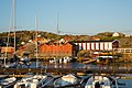 Docks and buildings at Husvik harbour, Brännö.jpg