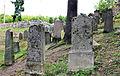 Dolní Žandov, Úbočí, gravestones in Jewish cemetery 2.jpg