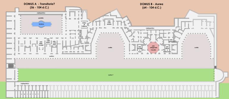 Domus aurea wikipedia for Piani del cortile con piscine