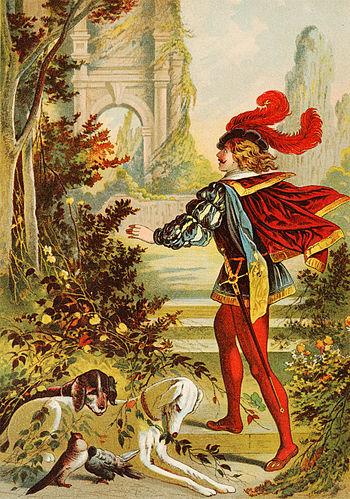 English: Sleeping Beauty, illustration by Hein...