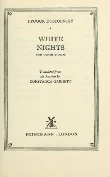 Dostoevsky - White Nights and Other Stories.djvu