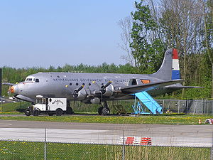 Douglas C-54 Skymaster - Netherlands Government Air Transport C-54A on display at the Aviodrome.